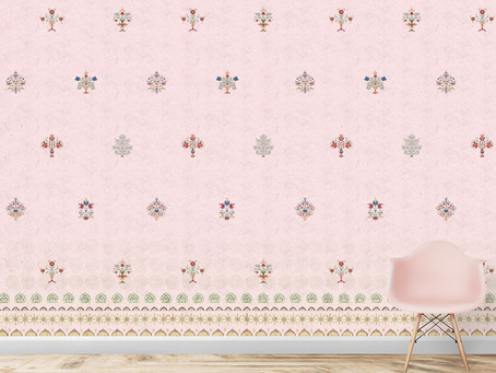Decorate walls with Indian theme wallpapers