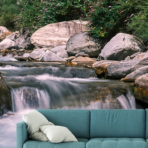 Waterfall Wallpaper Design for Rooms, Customised