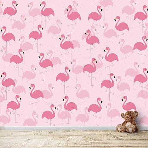 Pink Flamingo Motifs for kids room