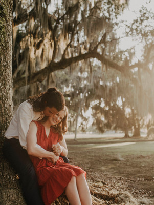Golden Engagements at Fontainebleau State Park