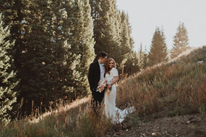 Bride and Groom Elopement Couple in Crested Butte, Colorado