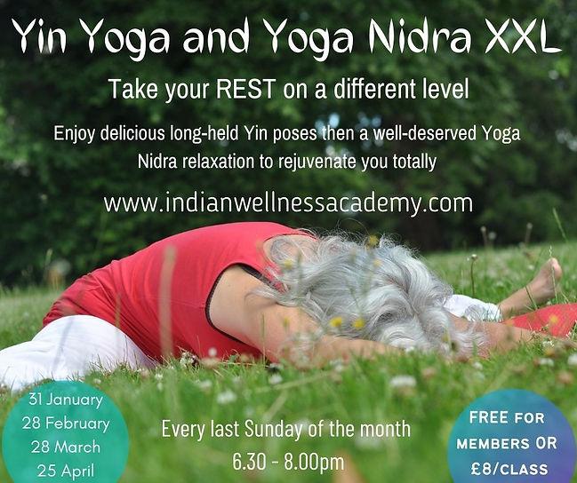 Yin Yoga and Yoga Nidra XXL Every last S
