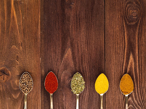 set-of-spices-in-spoons-top-view-paprika