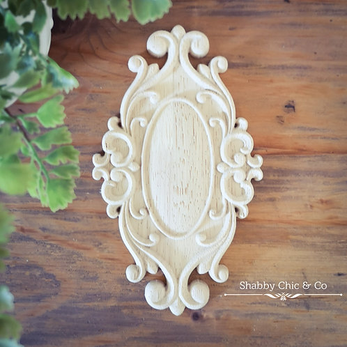 Wooden Furniture Applique - 12 x 20 cm