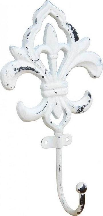 Metal Hook Floral White - HK1635