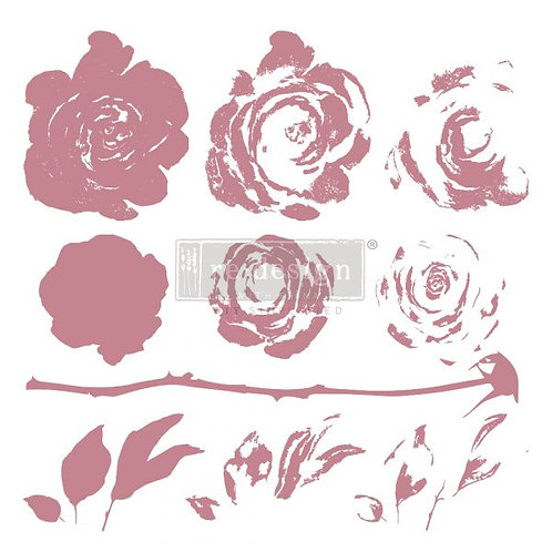 MYSTIC ROSE - REDESIGN DECOR CLEAR CLING STAMPS