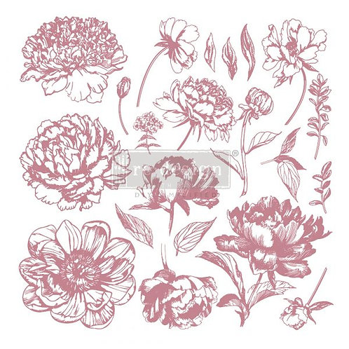 LINEAR FLORAL - REDESIGN DECOR CLEAR CLING STAMPS