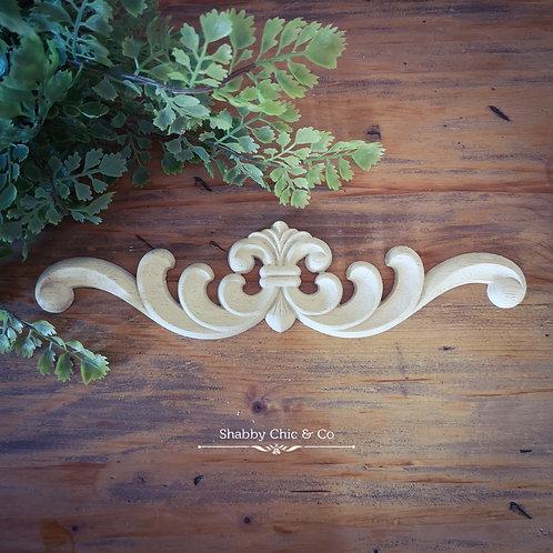 Wooden Furniture Applique - 26 x 6 cm