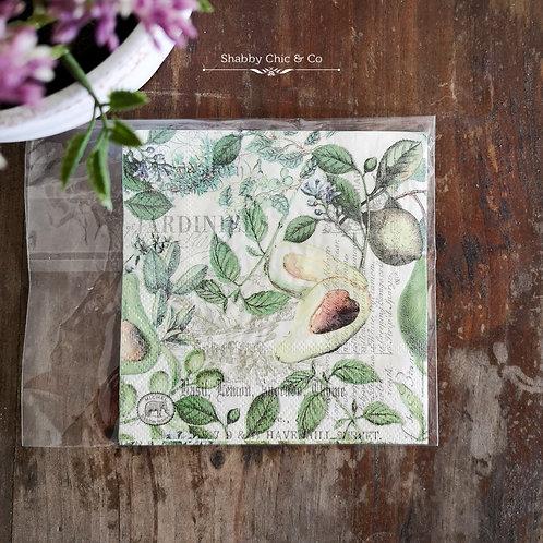 Decoupage Paper Napkins (pkt of 2) - Avocado Paradise