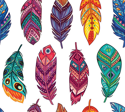 Feathers Rice Papers (pkt of 3)- Belles and Whistles by Dixie Belle