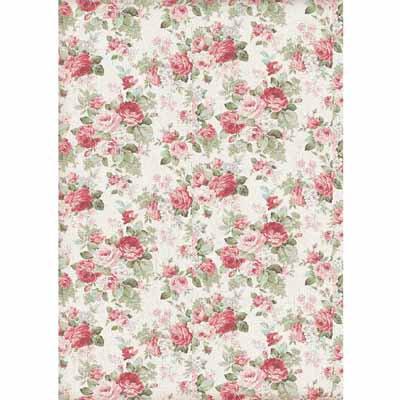 A4 Rice Paper - Texture big roses 4402