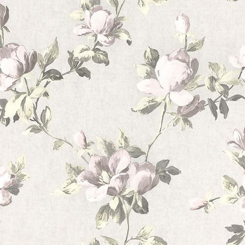 Emilia Rose Floral Wallpaper Cream and Pale Pink