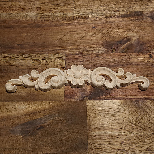 Wooden Furniture Applique - 16 x 3 cm