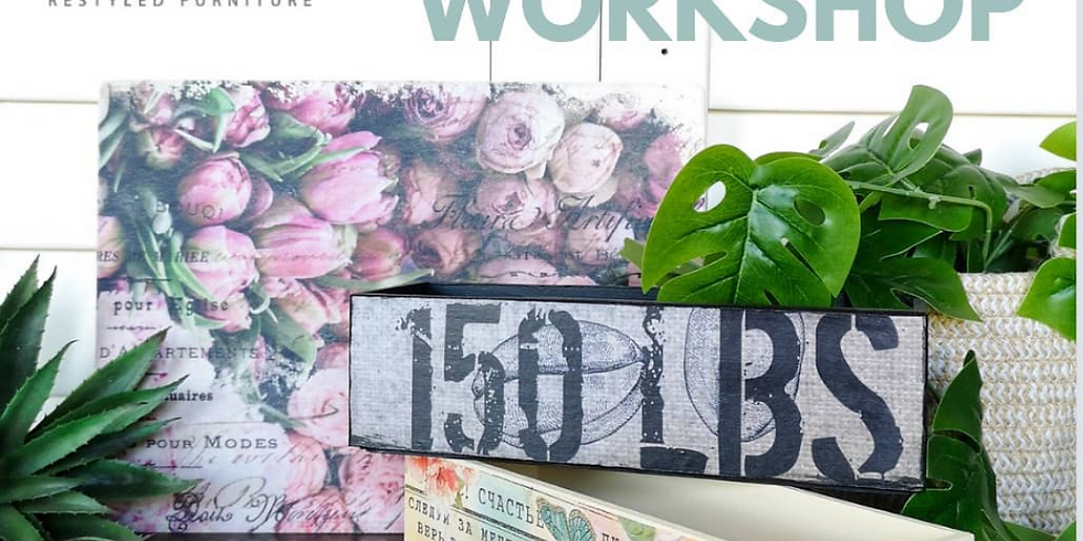 Wednesday - Super Decoupage Workshop at The Lounge
