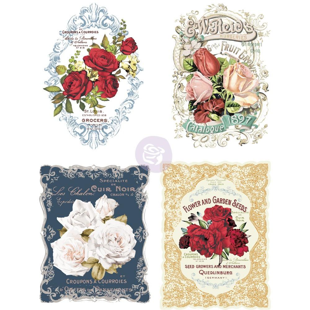 Re design with Prima Decor Transfer - Wild Roses