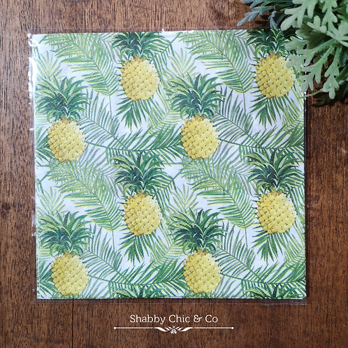 Decoupage Paper Napkins (pkt of 2) -  Oh Pineapples