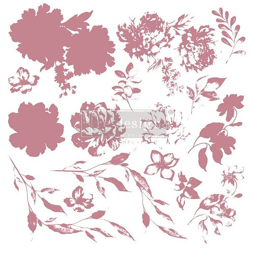 SWEET BLOSSOMS - REDESIGN DECOR CLEAR CLING STAMPS
