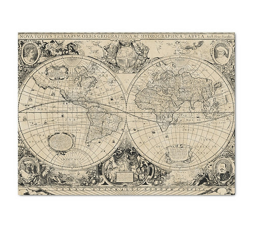 Vintage Old World Map - Decoupage Tissue Paper
