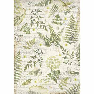 A3 Rice Paper - Leaves 3047