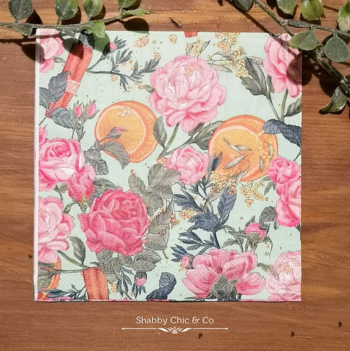 Decoupage Paper Napkins (pkt of 2) - Oranges & Roses