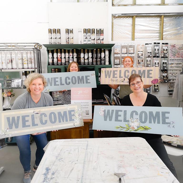 Saturday -  Jumbo Sign Decor Transfer Workshop