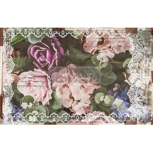 DARK LACE FLORAL - Redesign Decoupage Tissue Paper