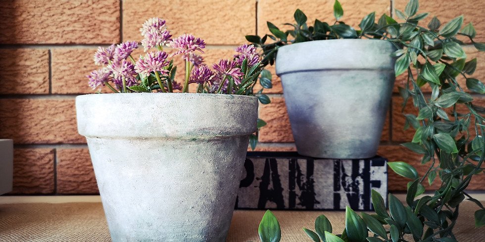 Saturday -  Aging Terracotta Pots Workshop at The Lounge