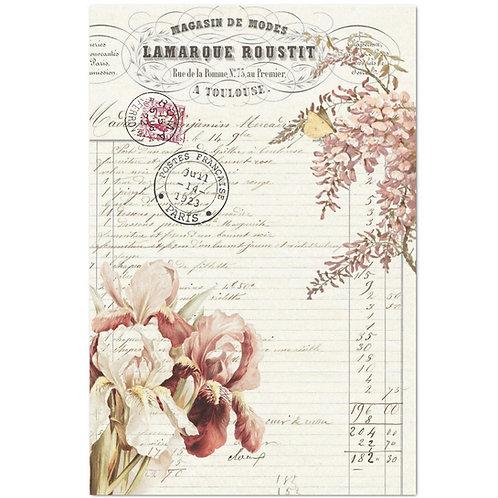 Floral Ephemera - Decoupage Tissue Paper
