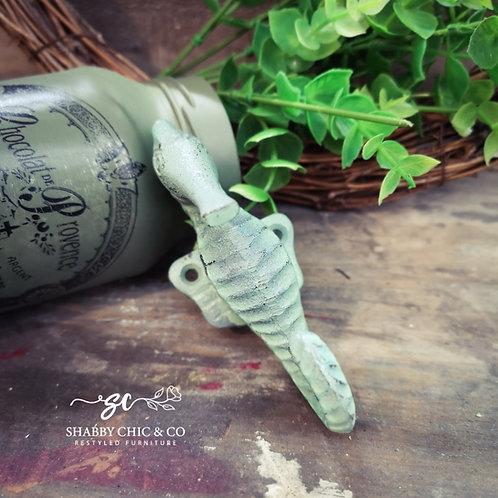 Sage Green Seahorse Iron Hooks