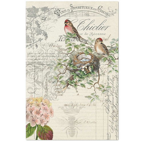 Bird Ephemera - Decoupage Tissue Paper