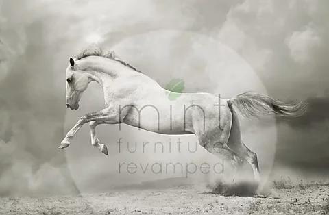 White horse - MINT Decoupage Paper