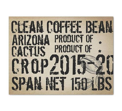 Coffee Sack - Decoupage Tissue Paper
