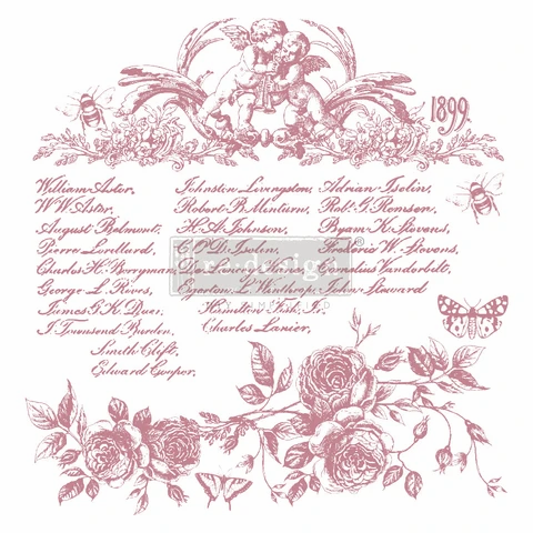 FLORAL SCRIPT - REDESIGN DECOR CLEAR CLING STAMPS