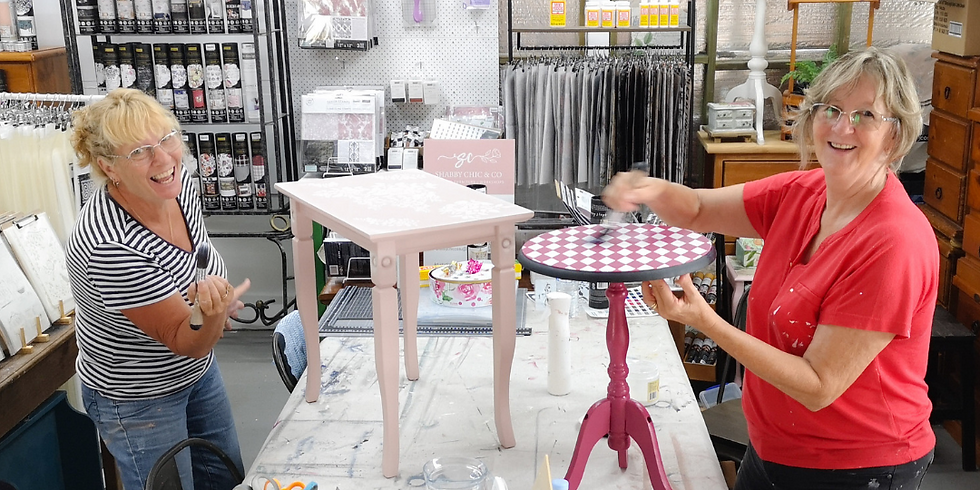 Wednesday - BYO Little Furniture Painting Workshop at The Lounge