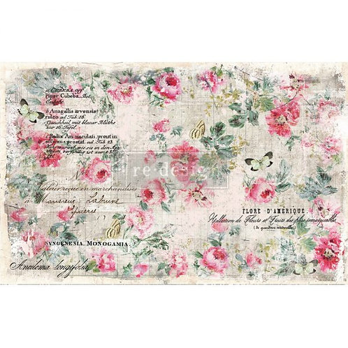 FLORAL WALLPAPER - Redesign Decoupage Tissue Pape