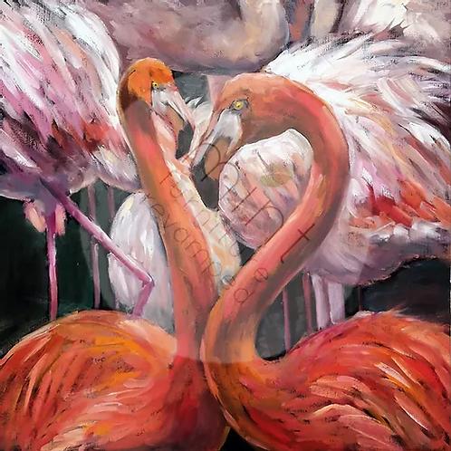 Flamingos - MINT Decoupage Paper