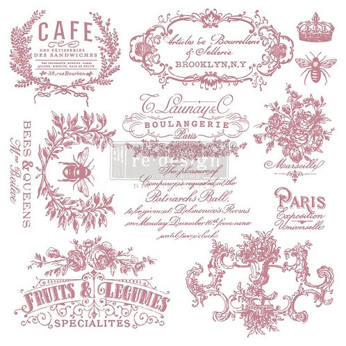 I SEE PARIS - REDESIGN DECOR CLEAR CLING STAMPS