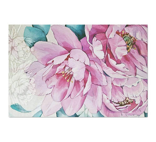 Pink Watercolor Peonies - Decoupage Tissue Paper