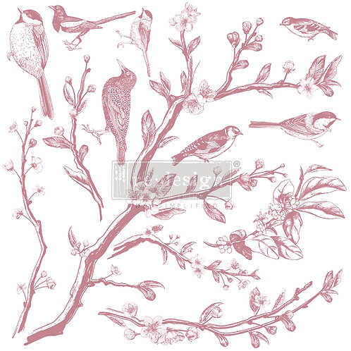 SPRINGTIME   - REDESIGN DECOR CLEAR CLING STAMPS