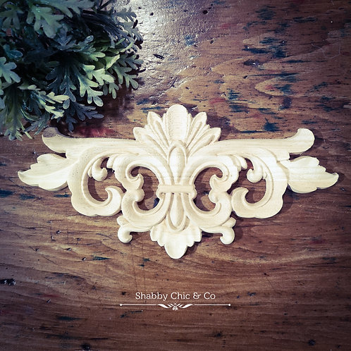 Wooden Furniture Applique - 16 x 7.5 cm