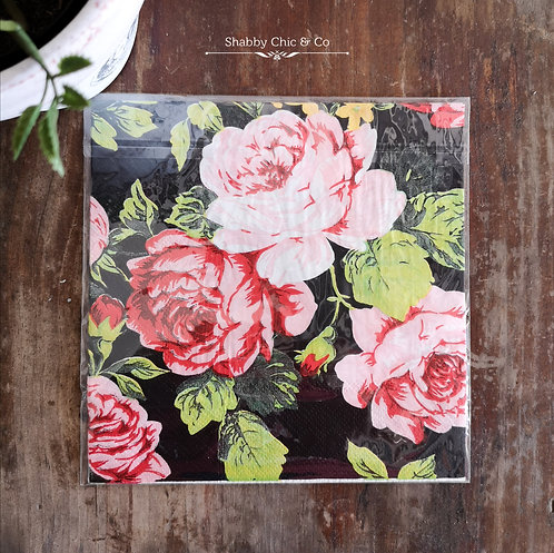 Decoupage Paper Napkins (pkt of 2) - Black Romance