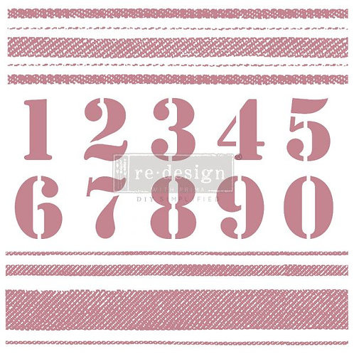 STRIPES - REDESIGN DECOR CLEAR CLING STAMPS