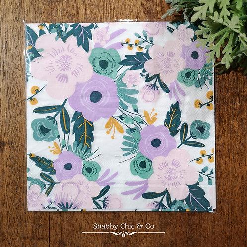 Decoupage Paper Napkins (pkt of 2) -  Sweet Flowers