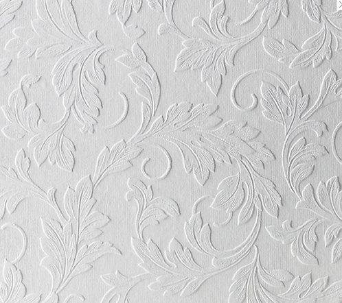 Printable Textured Wallpaper Scrolling Leaf