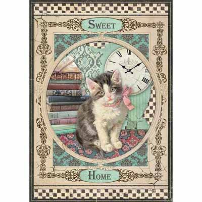 A4 Rice Paper - Sweet Home Cat A4353