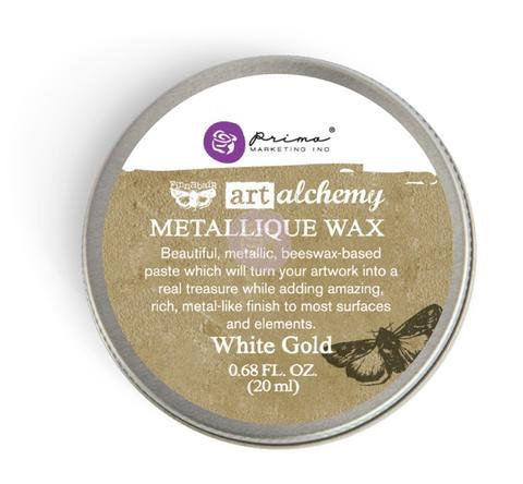 White Gold - Finnabair Metallique Wax (Art Alchemy)