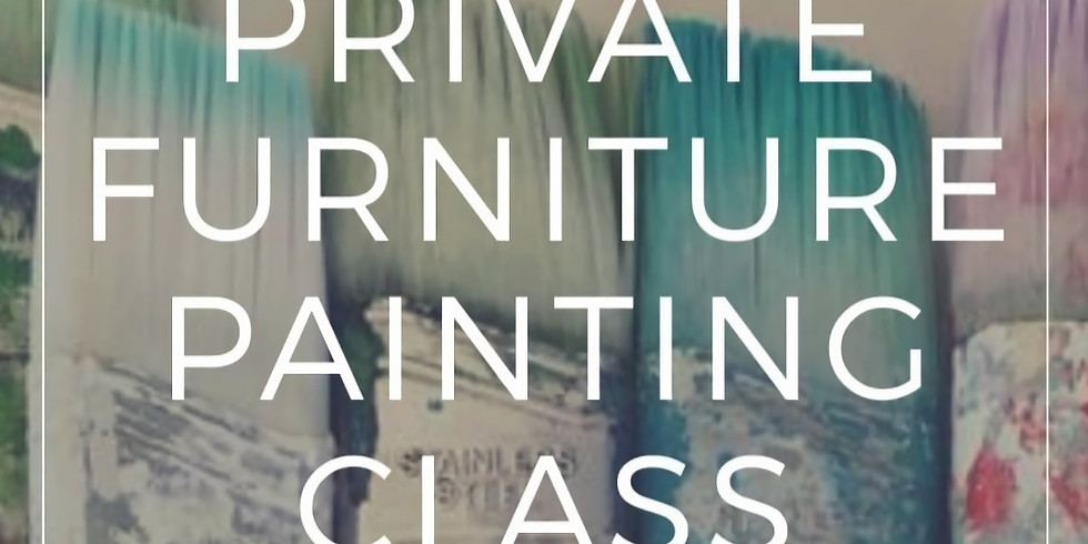 Monday - PRIVATE BYO Little Piece of Furniture Painting Workshop