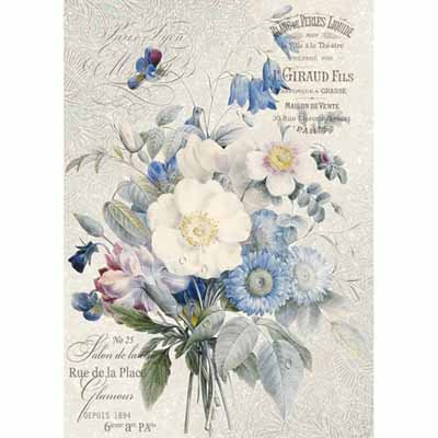 A4 Rice Paper - Old England bouquet 4149