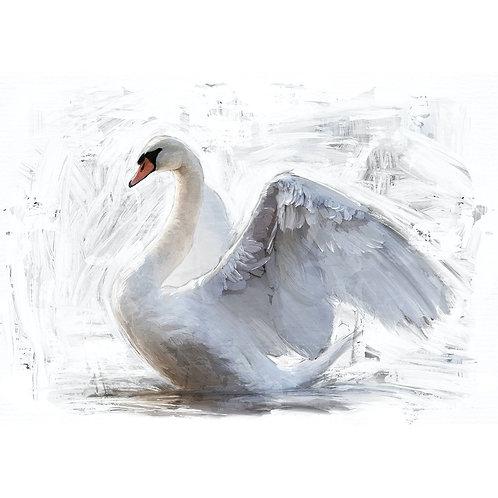 White Swan - MINT Decoupage Paper