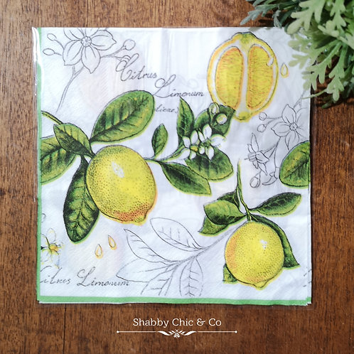 Decoupage Paper Napkins (pkt of 2) -  Oh lemons